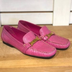 Ralph Lauren Pink Leather Loafers